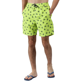 Regatta Hadden II Boardshorts Heren, electric lime cactus print